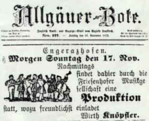 Zeitung 1872